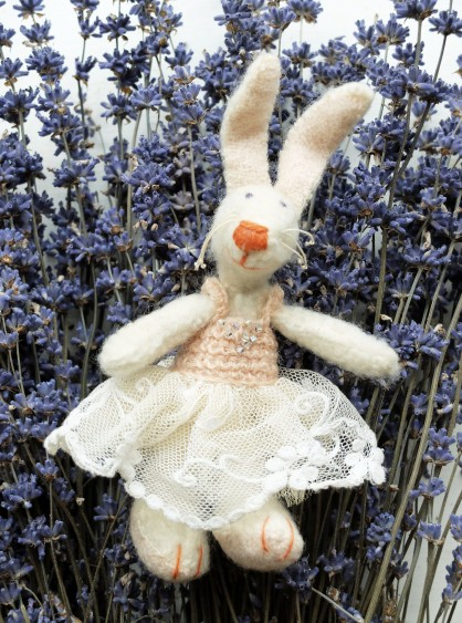 rabbit in lavender