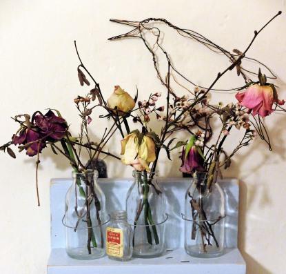 crow & flowers